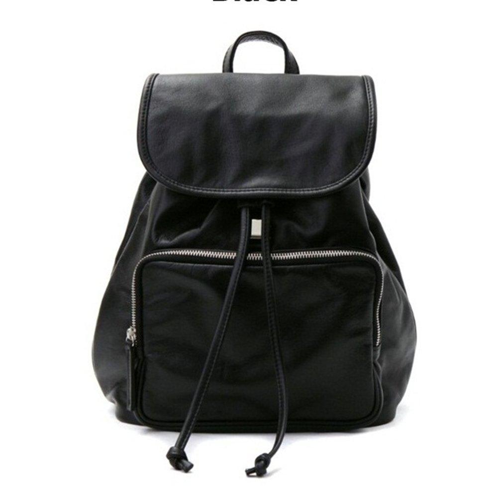 VF P905 Leather Backpack Black by Violett-Backpacks