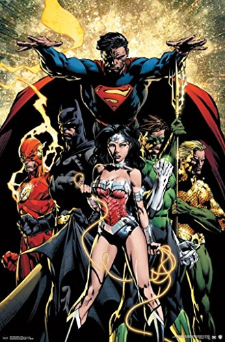 Trends International Justice League Power Comic Book Art Poster 22x34 inch