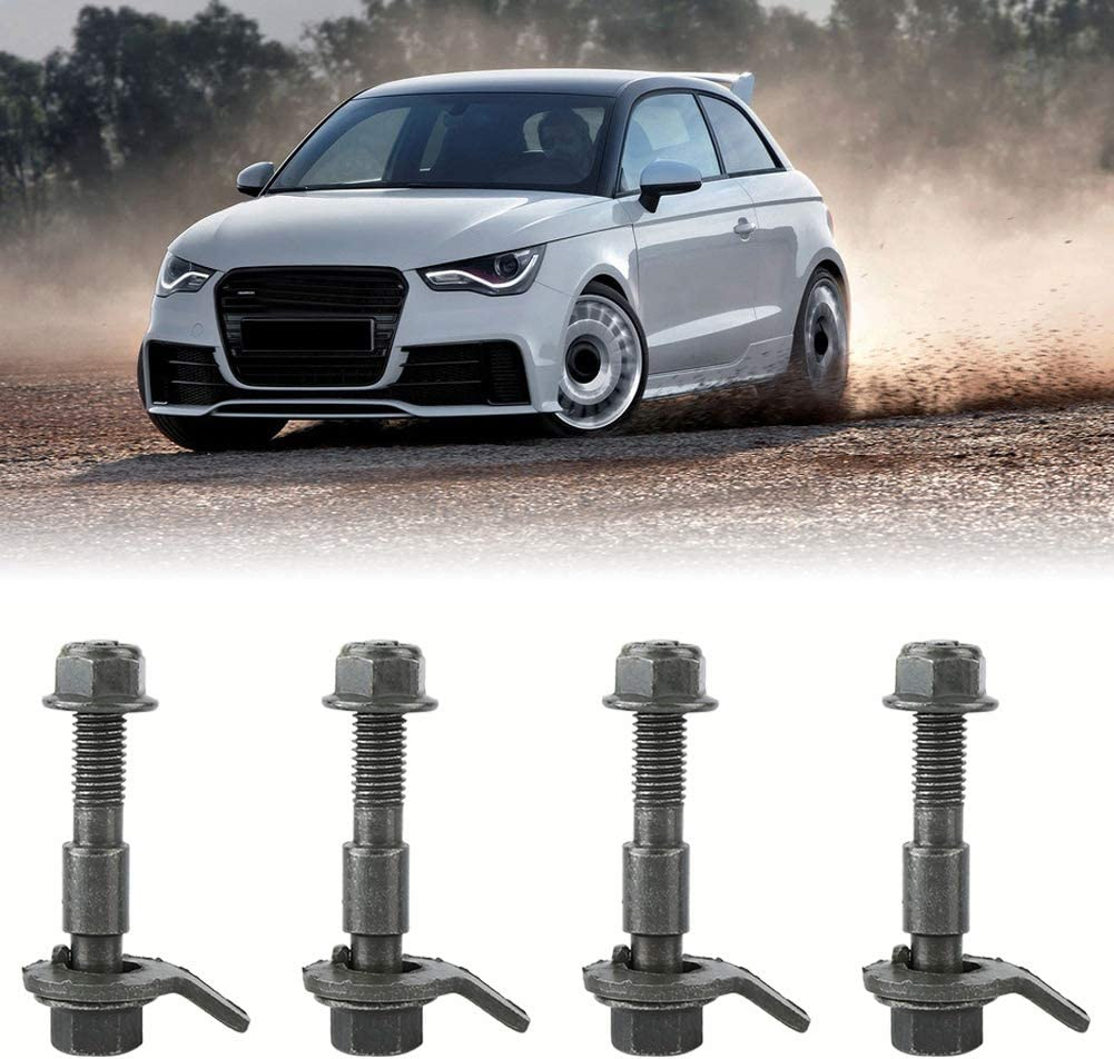 Suitable for Most of Vehicles Tire with Proper Size Cam Bolt Alignment Adjustable Cam Bolt with Adjustable Nut and No-slip Gasket to Adjust Camber Simply Camber Alignment Kit
