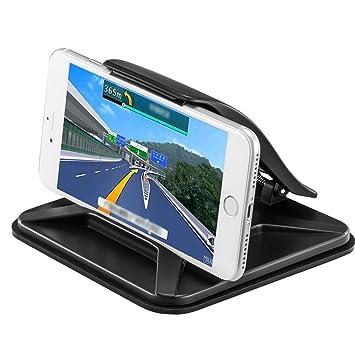 Wuudi Soporte de Coche para teléfono Móvil, salpicadero GPS Soporte de Montaje en vehículo para