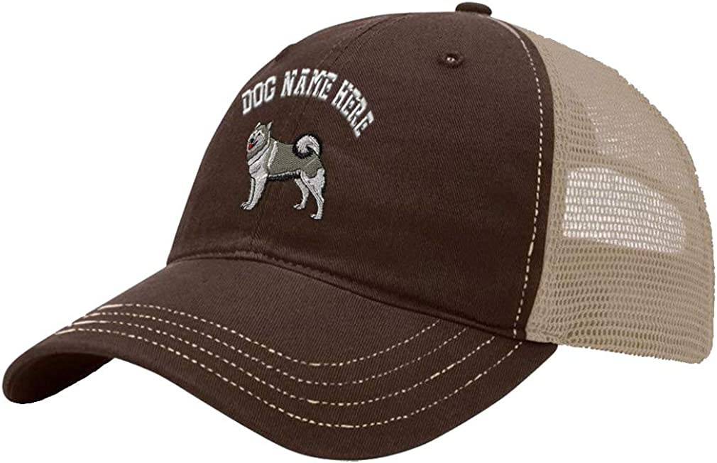 Custom Trucker Hat Richardson Alaskan Malamute A Embroidery Dog Name Cotton