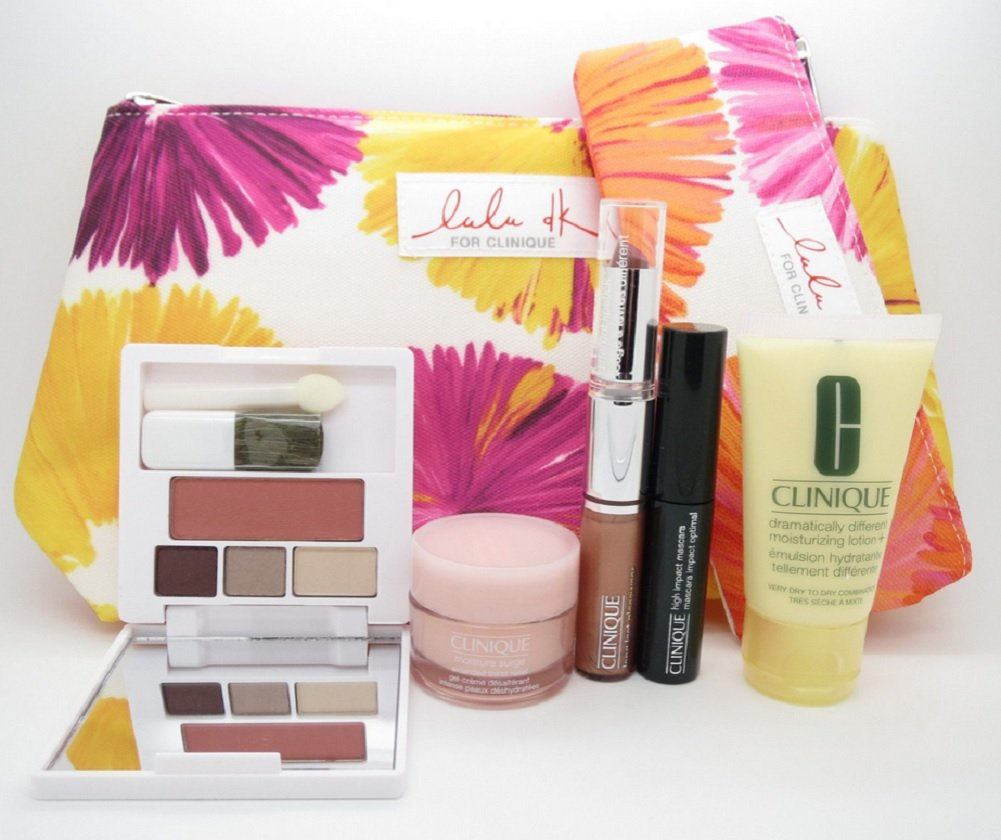 NEW 2015 Clinique 7 Pcs Makeup Skincare Gift Set with Moisture Surge & More! ($70+ Value)