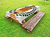 interesting office room interior Ambesonne Toga Party Outdoor Tablecloth, Old Antique Greek Vase with Olive Branch Motif and Laurel Wreath, Decorative Washable Picnic Table Cloth, 58 X 84 Inches, Hunter Green Orange Black