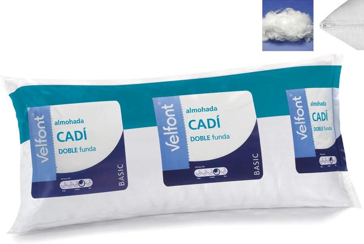 Velfont Almohada Doble Funda CADI Microfibra Transpirable Todas Las Medidas (135cm)