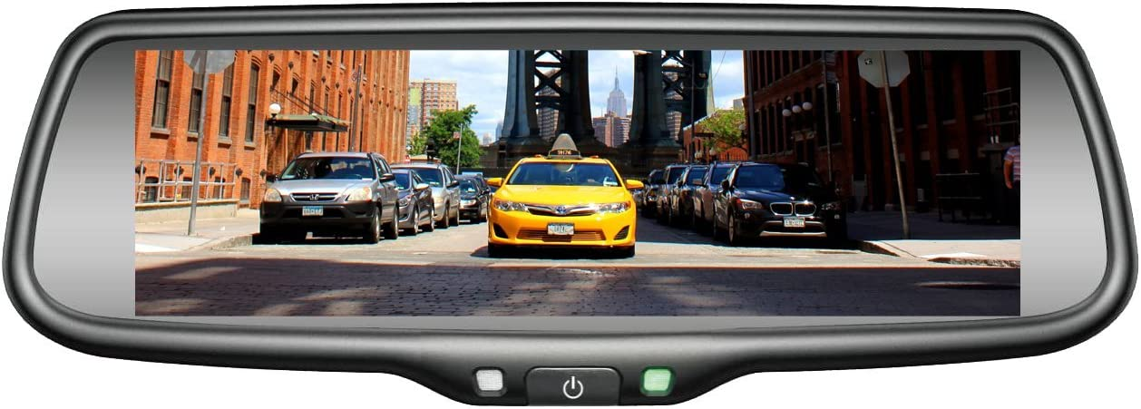 Replacement Rear-View Mirror with 7.3 TFT-LCD Backup Camera Monitor and Wi-Fi Miracast BOYO VISION VTW73M