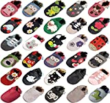 MiniFeet Premium Soft Leather Baby Shoes, Little Hearts, 6-12 Months