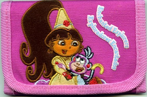 Dora the Explorer and Boots Trifold Wallet - Princess Dora !