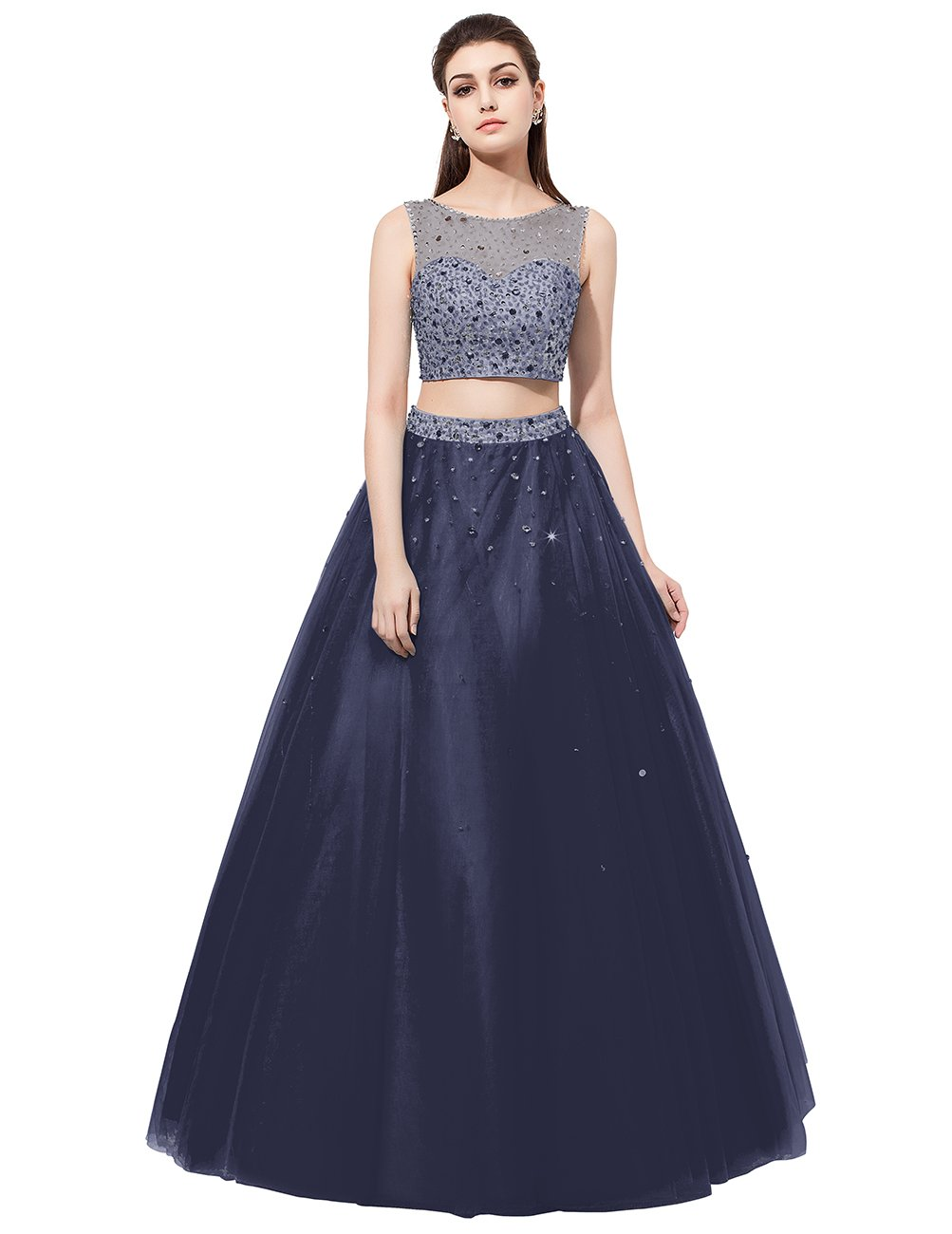 0ddd419cf80cc Dresstell 演奏会ドレス ステージドレス ビジュー付き ツーピースドレス 袖なし ビスチェタイプ 発表会