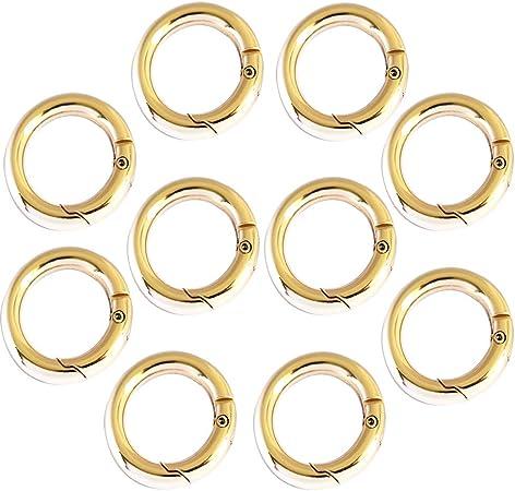5 Pcs circle round carabiner hook keyring buckle 28mm snap clips keychain NIUS