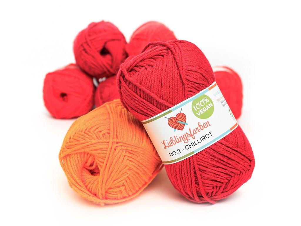 Strickanleitung selfmade Label Wollfarben: Aprikose // Elfenbein Myboshi Strick-Set Dreieckstuch Surprise: 5 xStrickwolle Lieblingsfarben No.2
