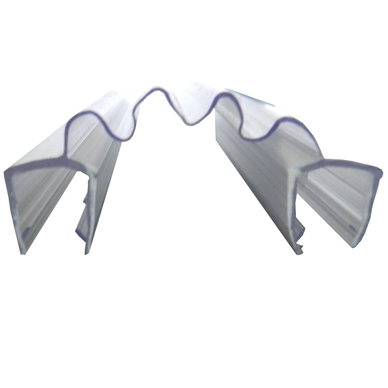 Di Vapor (R) Double Shower Glass Panel Seals | 25mm Joiner Bi-fold Shower Screen (Glass Thickness: 8mm, Seal Length: 2m)