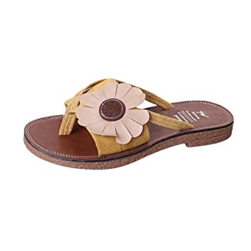 2bda727fc680 Image Unavailable. Image not available for. Color  Clearance Hot Sale! ❤  Flower Womens Flip-Flop ...