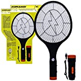 Koramzi Electric Mosquito Swatter/Bug Zapper With Rechargable Battery, Handle light, and Removable Flashlight Insect...