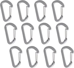 Mini Skater Aluminum Fashion Durable Multi-Functional D-Ring Key Chain Clip Hook Steel Wire Cable Key Ring Keychain Connection