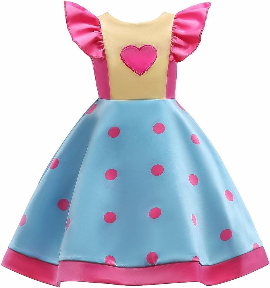 VLUNT Vestidos para niñas Falda de Vuelo Estampada Pequeño Arco de ...
