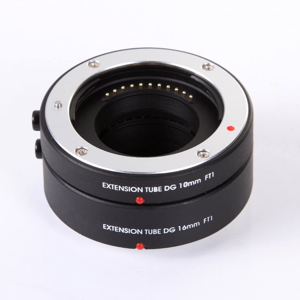 FocusFoto Pro Automatic Electronic Macro AF Auto Focus Extension Tube DG Set 10mm 16mm for Olympus Panasonic Micro Four Thirds M4//3 Mount GH3 GH4 GH5 GX85 E-PL8 E-PL7 E-M5 E-M10 Mark II III Cameras
