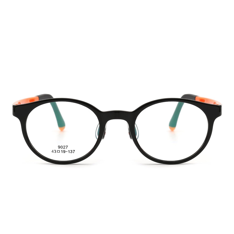 Kids Round Eyeglasses Optical TR Frame Girls Boys Non-Prescription Clear Lenses 9027C66
