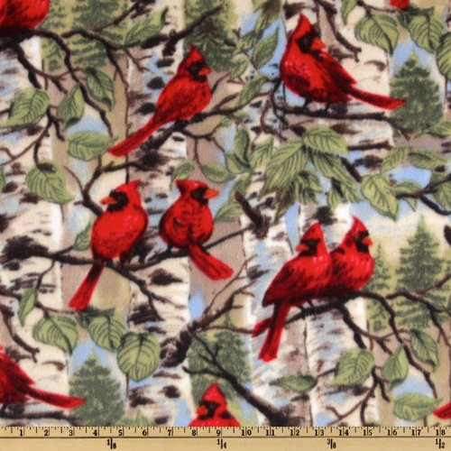 Baum Textiles WinterFleece Red Bird Yard