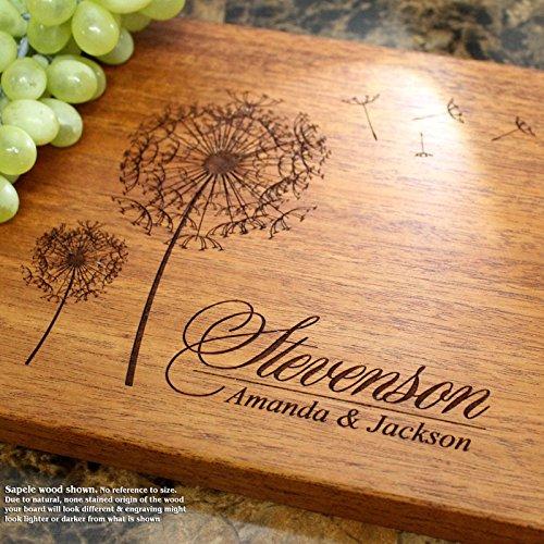 Board, Custom Keepsake, Engraved Serving Cheese Plate, Wedding, Anniversary, Engagement, Housewarming, Birthday, Corporate, Closing Gift #406 ()