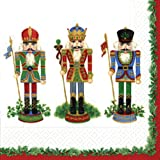 Entertaining with Caspari Luncheon Napkins, Nutcracker Suite, Ivory, Pack of 20