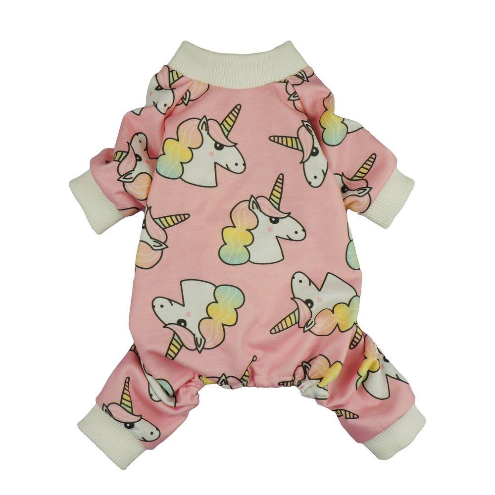 Fitwarm Unicorn Pet Clothes for Dog Pajamas PJS Cat Apparel Jumpsuits Pink