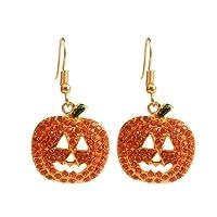 Scrox 1 Paire Ornements d'halloween Alliage de personnalité de la Mode Boucles d'oreilles avec Diamants Boucles d'oreilles Halloween 4.2 * 2.2cm