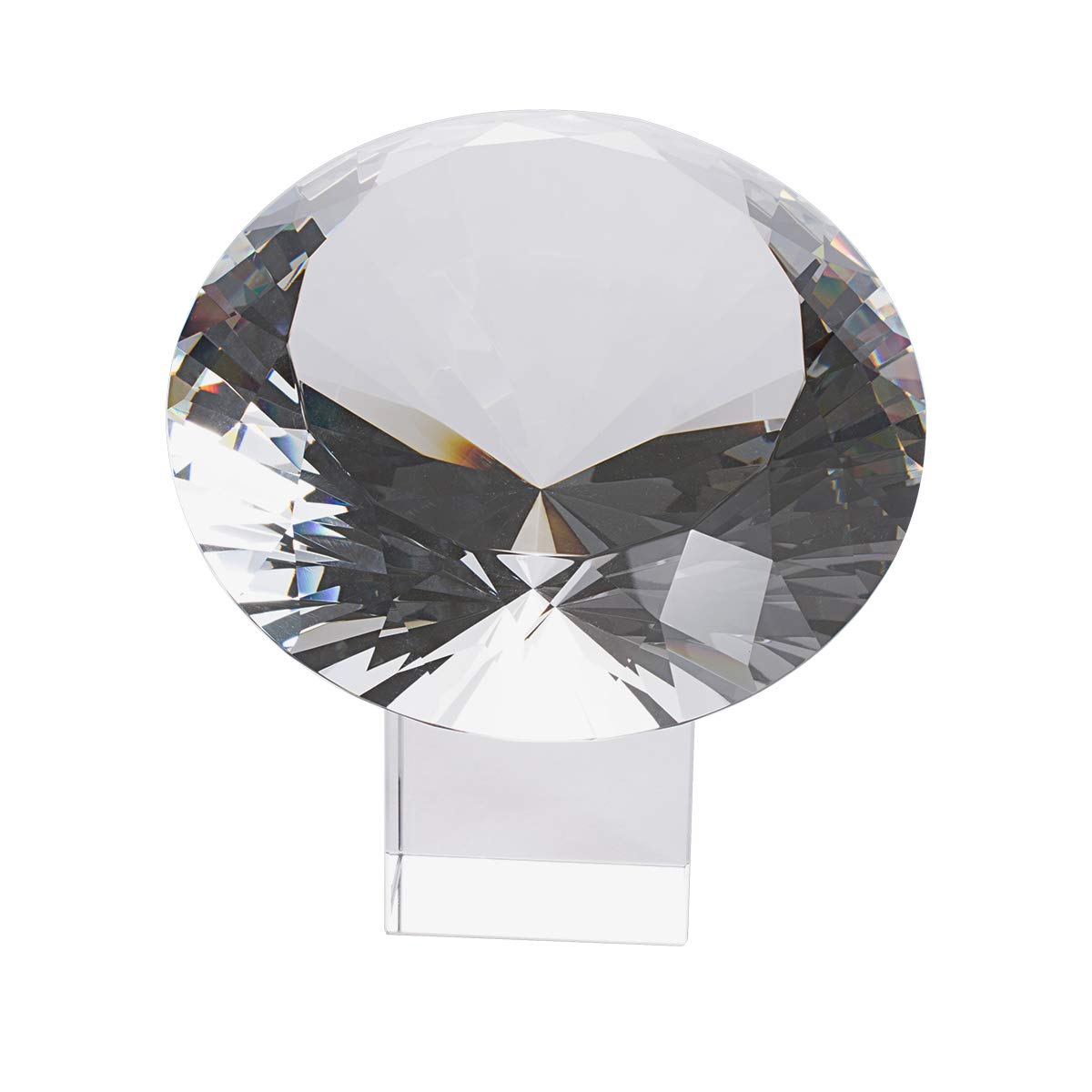 LONGWIN 200mm(8 inch) Big Crystal Diamond Paperweight Wedding Centerpiece by LONGWIN