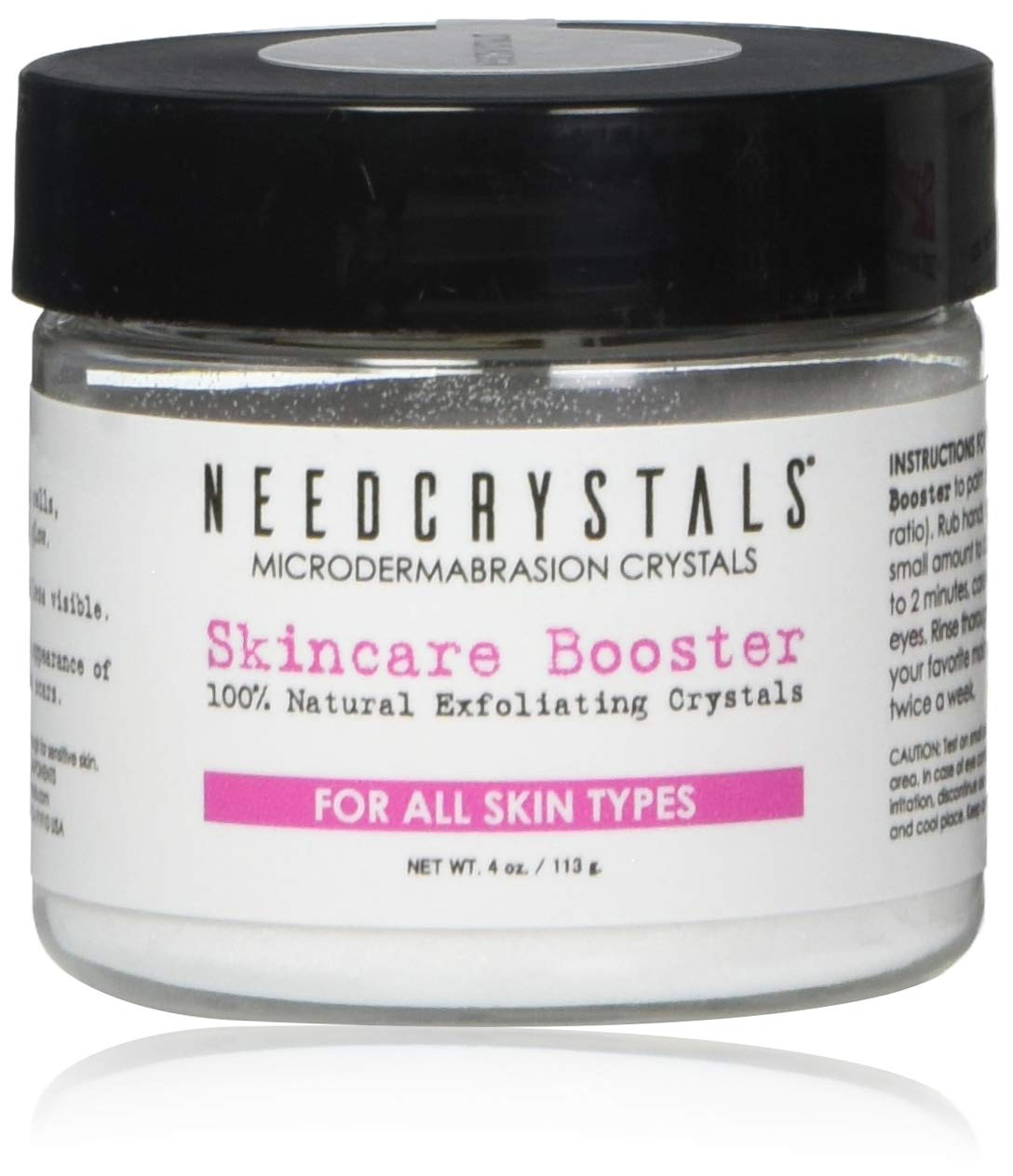 NeedCrystals Microdermabrasion Crystals 4 oz. / 113 gr. DIY Face Scrub. Natural Facial Exfoliator for Dull or Dry Skin Improves Acne Scars, Blackheads, Pore Size, Wrinkles, Blemishes & Skin Texture: Beauty