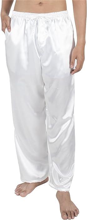 Men Satin Silk Pajama Sleep Lounge Pants Shorts Baggy Casual Night Sleepwear