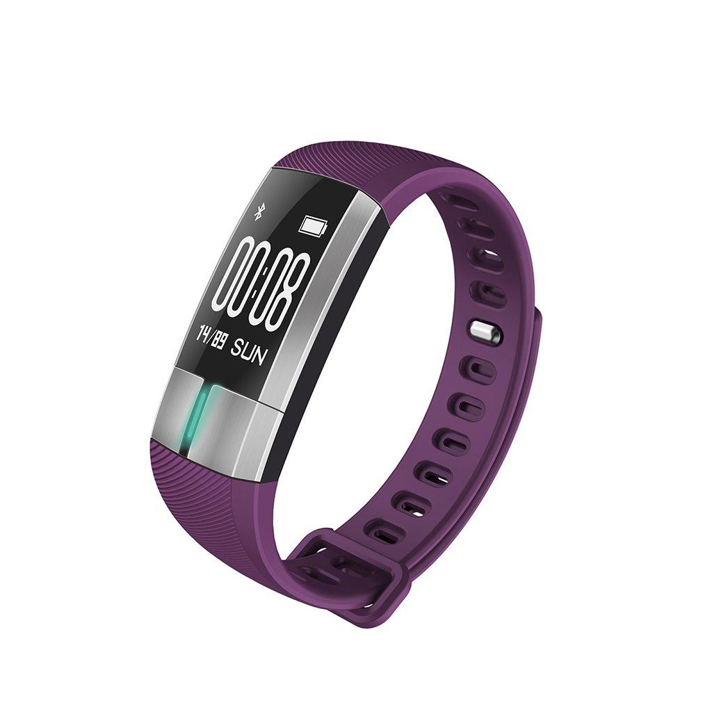 MDMMBB Pulsera Inteligente de Ritmo cardíaco ECG Bluetooth IP67 natación Monitor de Paso Contador de Temperatura a Prueba de Agua Corriendo Deportes de Edad Avanzada