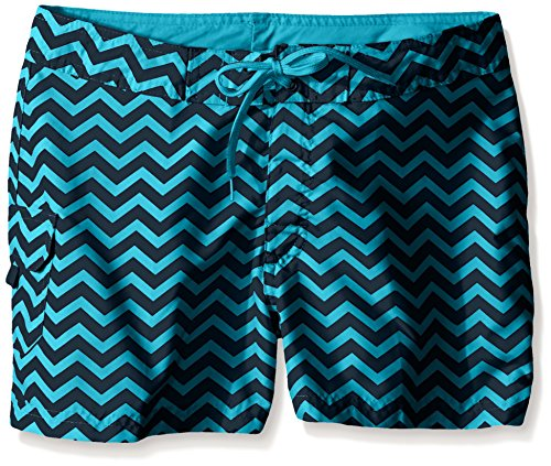 Girls Swimwear Boardshorts - Kanu Surf Big Girls' Alexa Boardshorts, Blue, Medium (8-10)
