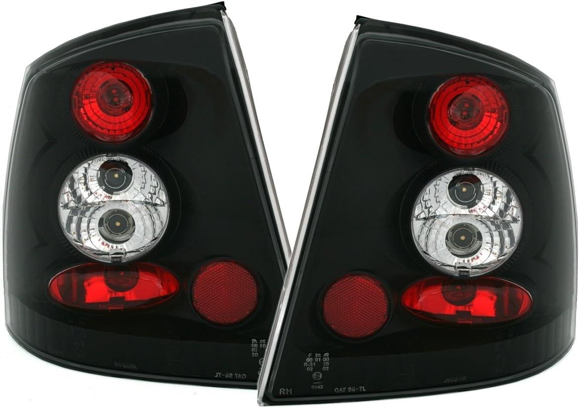 mit Reflektor Klarglas Schwarz 2-teilig AD Tuning 940195 R/ückleuchten Set