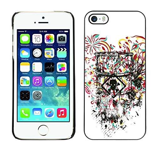 GIFT CHOICE / Mince Étui rigide Dur Housse de protection Slim Hard Protective Case SmartPhone Cover for iPhone 5 / 5S // Coeur de Toxic Love //