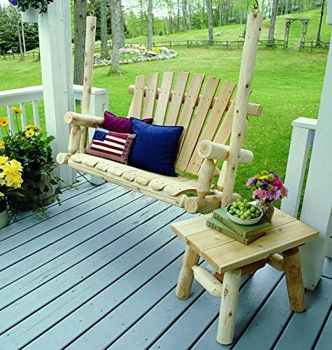 Lakeland Mills 5-Foot Cedar Log Porch Swing