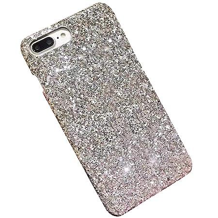 Felfy Kompatibel mit Hülle iPhone 6 Plus / 6S Plus Handy Hülle Glitzer Glänzend Glitzer Bling Sparkles Luxus PC Plastik Hart