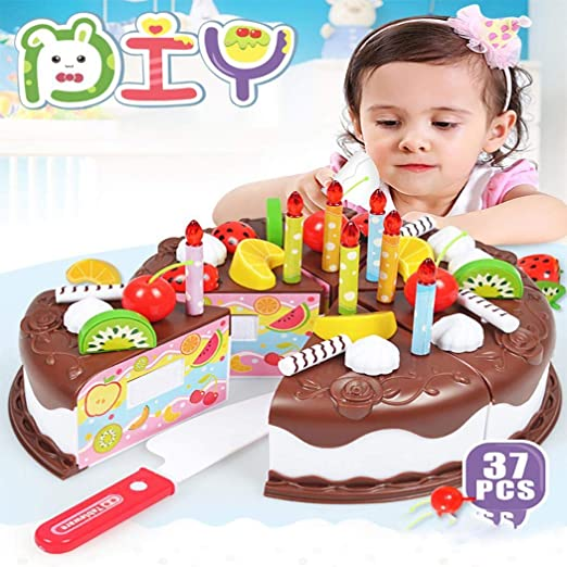 1PC Toy Cake Cutting Cute Birthday DIY Toy Cake for Kids Gifts Toddlers Children