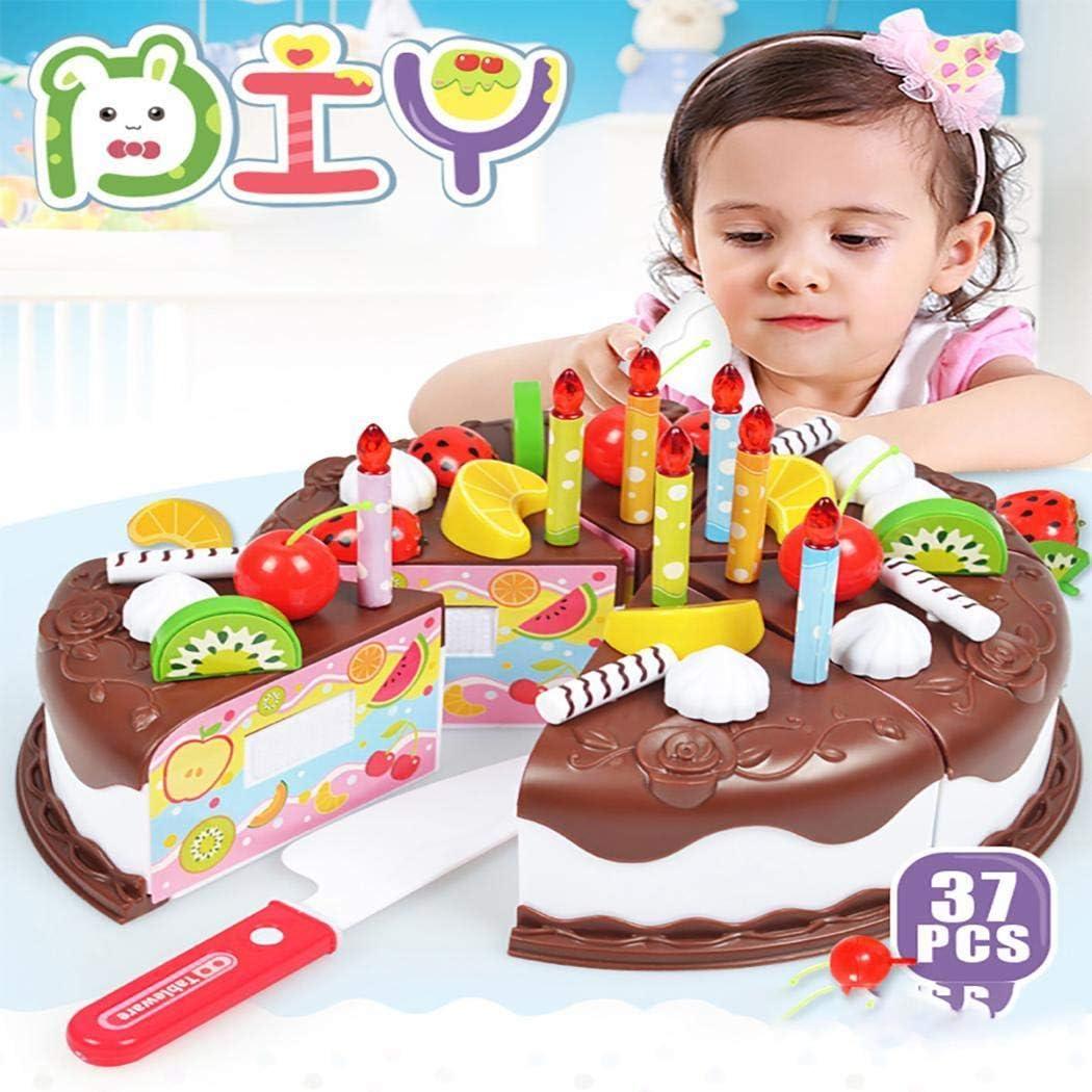 Magnificent Amazon Com Oneriome 37Pcs Creative Diy Cake Toys Children Pretend Personalised Birthday Cards Sponlily Jamesorg