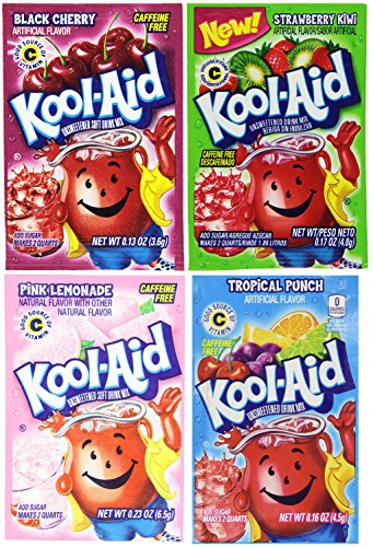 Kool-Aid Drink Mix, 4 Flavors Variety Pack, 48 Packets (Flavor Aid)