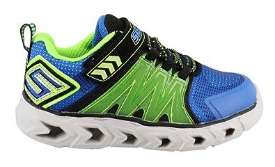 5c30d8a11582 Skechers S Lights  Hypno-Flash 2.0 Lime Black Infant Boys Training Shoe Size