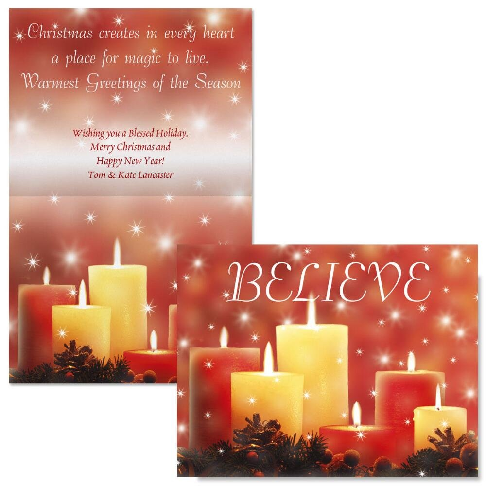 Amazon Candlelight Glimmer Note Card Size Personalized
