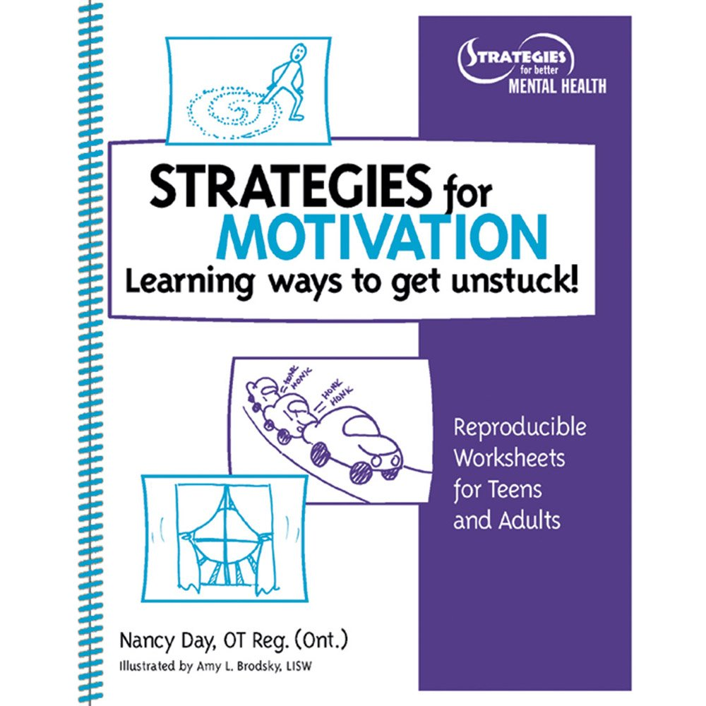 worksheet Motivation Worksheets strategies for motivation learning ways to get unstuck reproducible worksheet teens and adults with cd nancy day 9781893277328 a