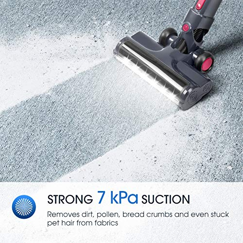 NOVETE Stick Cleaner, Cleaner with 7 kPa Suction, HEPA Filter, 40-Minute Battery, and Wall