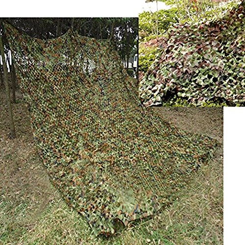 Lightweight Military Nets,TechCode 2m x 3m Camo Netting for Army Shooting Camping Military Hunting Hide Woodlands Jungle, White, Desert, Camo Tape by TechCode