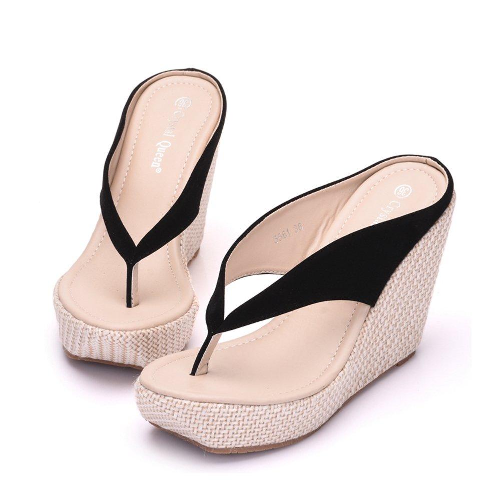 Amazon Crystal Queen Women Beach Sandals Platform Wedges