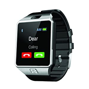 TRASS Spice Stellar Virtuoso Pro+ MI 492 COMPATIBLE Bluetooth Smart Watch Phone With Camera and Sim Card Support With Apps like Facebook and WhatsApp Touch Screen Multilanguage Android/IOS Mobile Phone Wrist Watch Phone with activity trackers and fitness band features