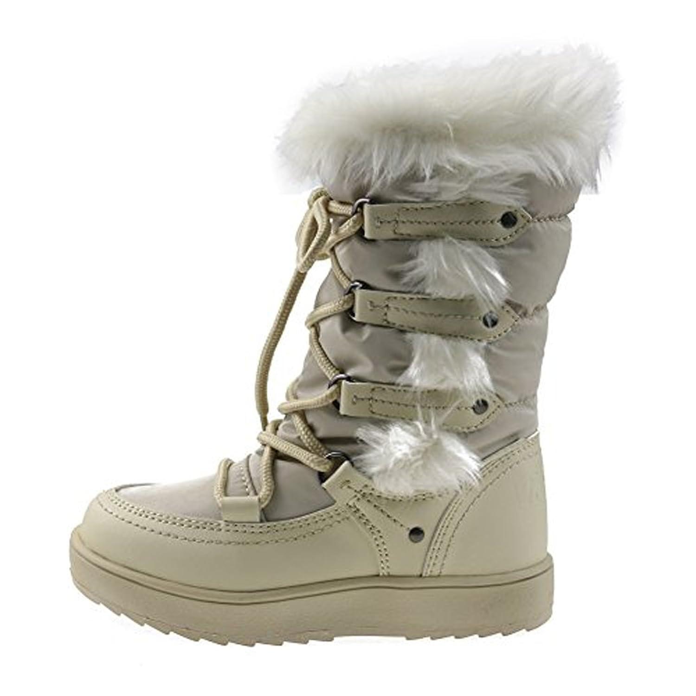 Orgrimmar Girls Warm Wool Waterproof Snow Boots: Amazon.ca: Shoes & Handbags