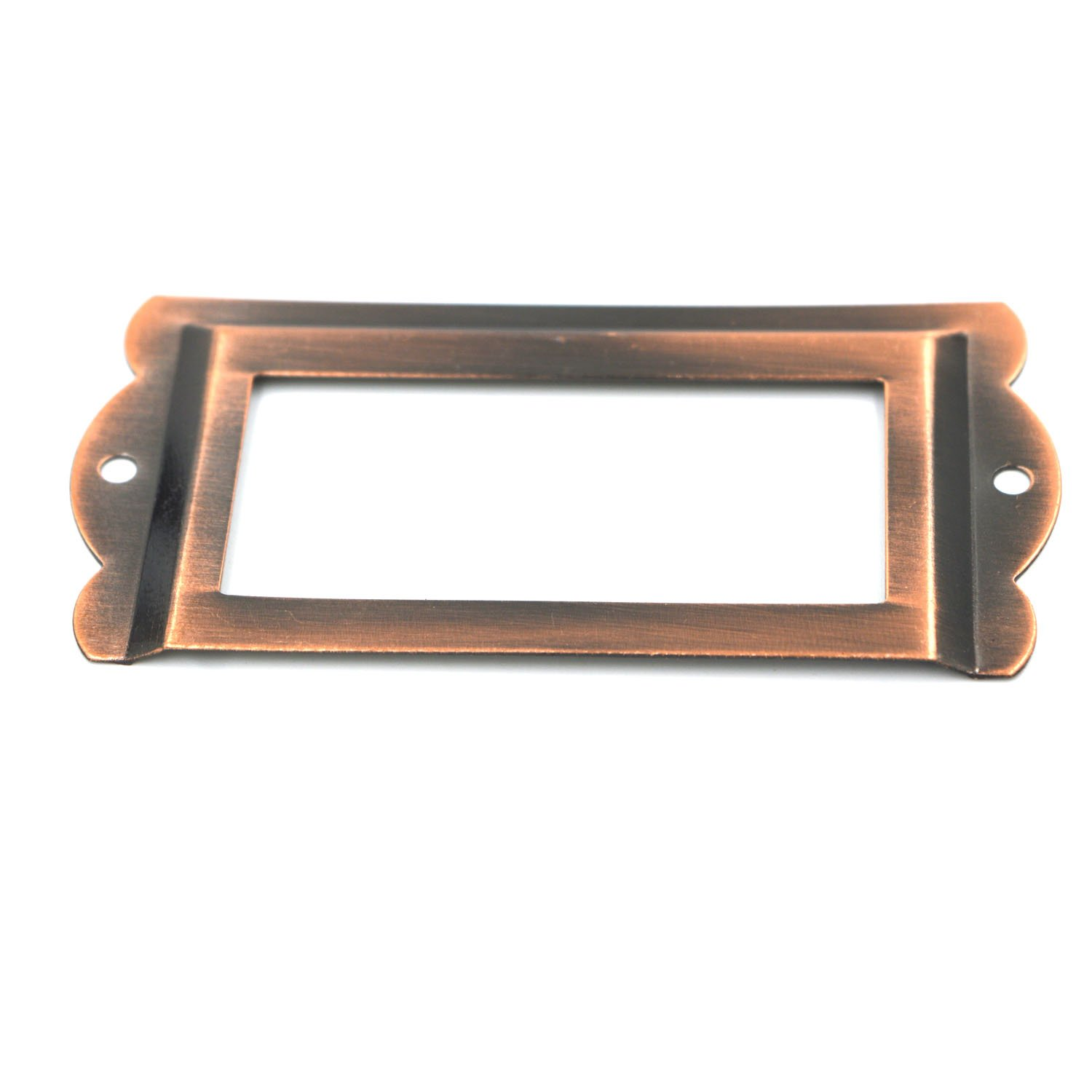 Bronze SpzcdZa 12Pack 84 x 42mm Office Library File Drawer Cabinet Card Tag Label Card Holder Drawer Pull//Label Holders//Label Frames Card//Label Holder Modern Label Holders Metal Frame