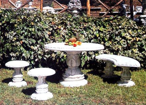 イタリア製 円型テーブルアールベンチ丸椅子2脚セット B00FGR2M6W