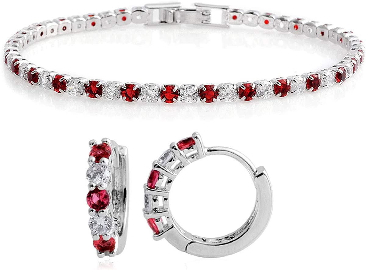 "1.2/"" Swirl round ruby Topaz Gemstone Parti Dangle Earrings 18K Gold filled"