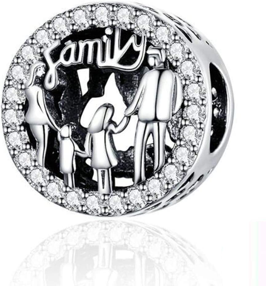 Love Mom Dad Baby Girl Boy Family Charms for Pandora Bracelets (Family Charm)